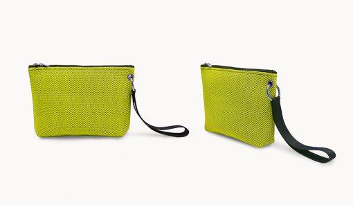 Bolso de mano en tejido 3D verde lima