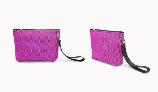 Bolso de mano en tejido 3D rosa fucsia