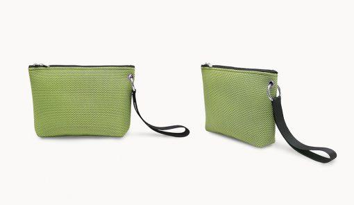 Bolso de mano en tejido 3D verde piatacho