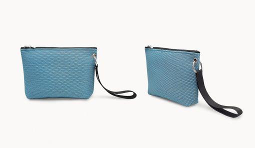 Bolso de mano en tejido 3D azul cielo