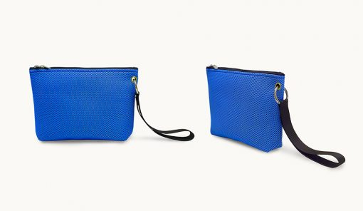 Bolso de mano en tejido 3D azul royal