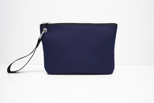 Bolso de mano en tejido 3D violeta