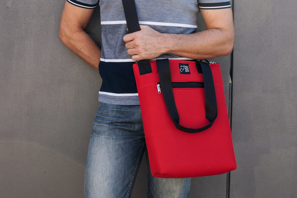 Tote Bag Asa Larga Sport rojo