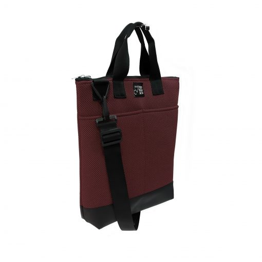 Tote Bag Pockets Asa Corta Sport burdeos 2