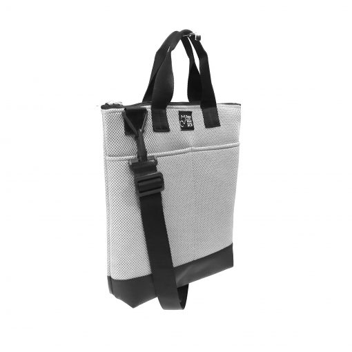 Tote Bag Pockets Asa Corta Sport blanco 2