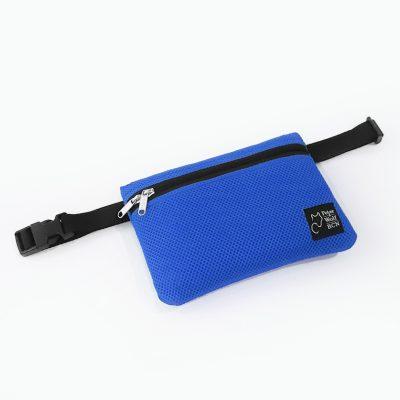 Riñonera en tejido 3D azul royal