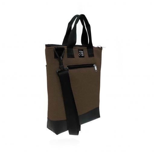 Tote Bag Pockets Asa Corta Sport marrón 1