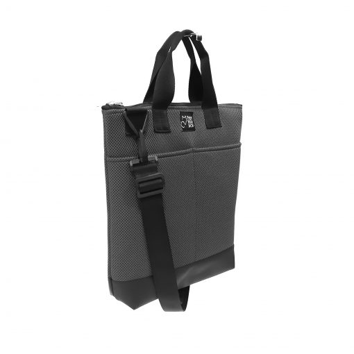 Tote Bag Pockets Asa Corta Sport gris antracita 2