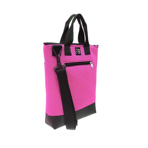Tote Bag Pockets Asa Corta Sport rosa 1