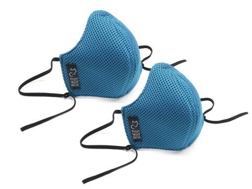 pack 2 mascarillas sport azul celeste