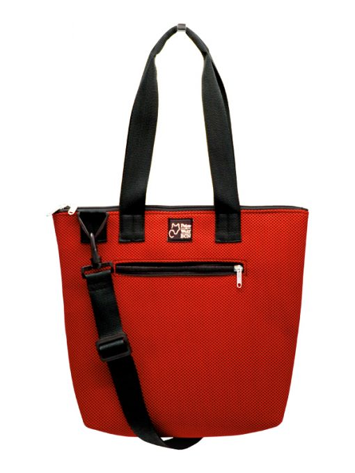 Bolso Barco en tejido técnico 3D Rojo