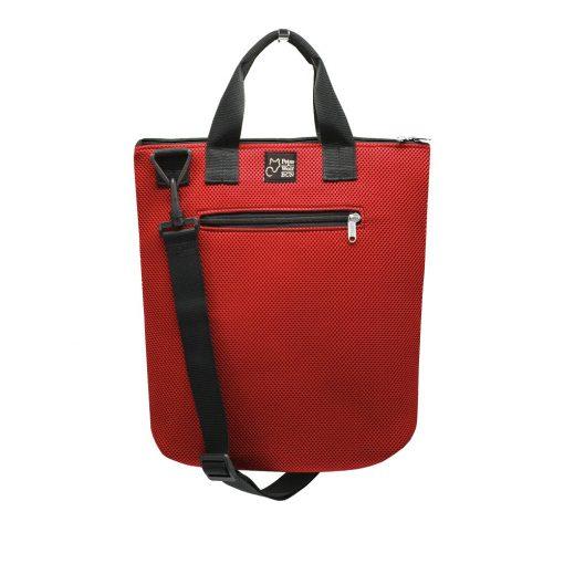 Tote Bag Asa corta en tejido 3D rojo
