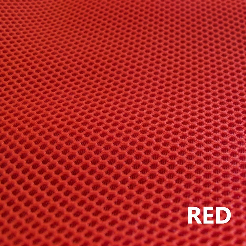 Tejido técnico 3D rojo