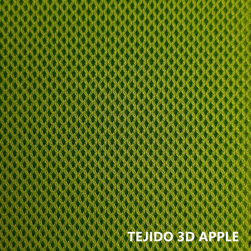 Tejido 3D verde manzana