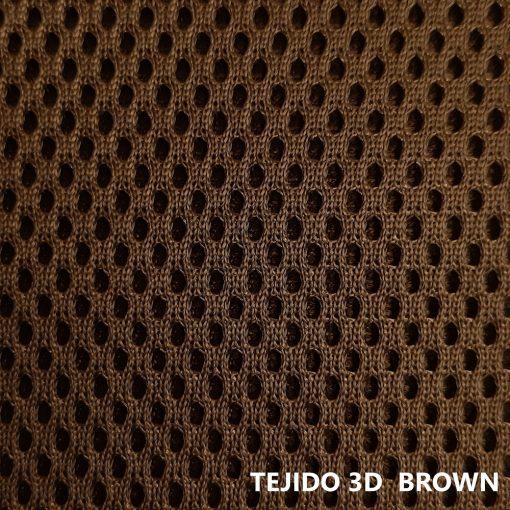 Tejido 3D marrón