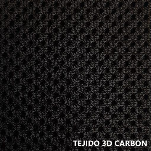 Tejido 3D gris carbón