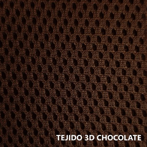 Tejido 3D marrón chocolate