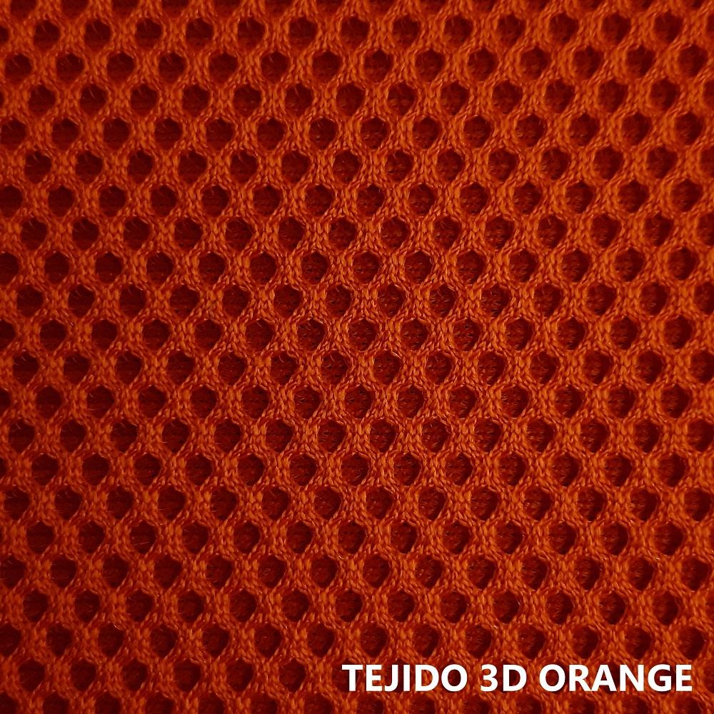 Tejido 3D naranja