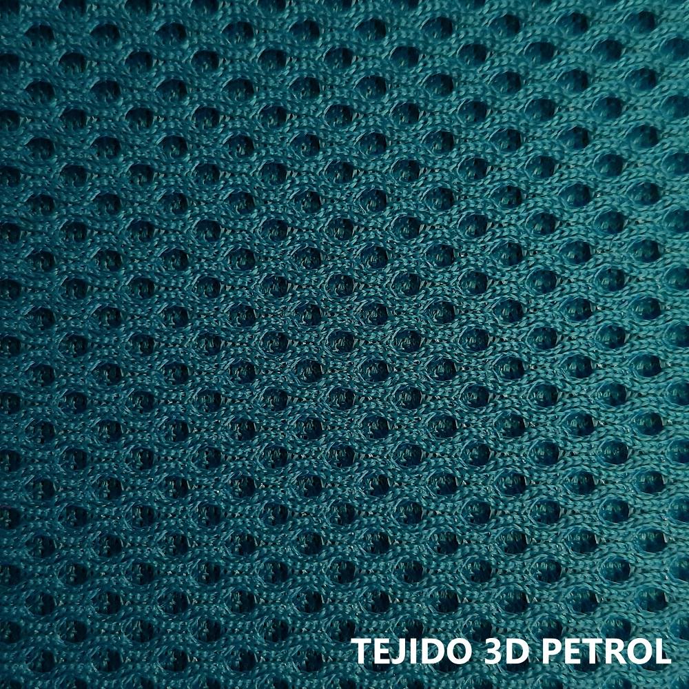 Tejido 3D verde petróleo