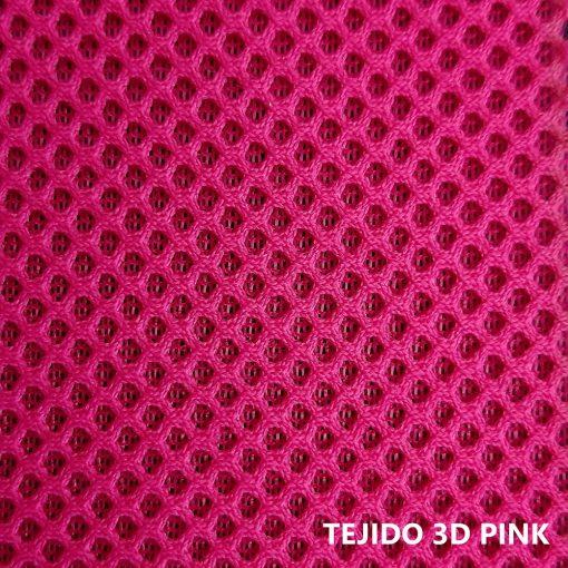 Tejido 3D rosa fucsia