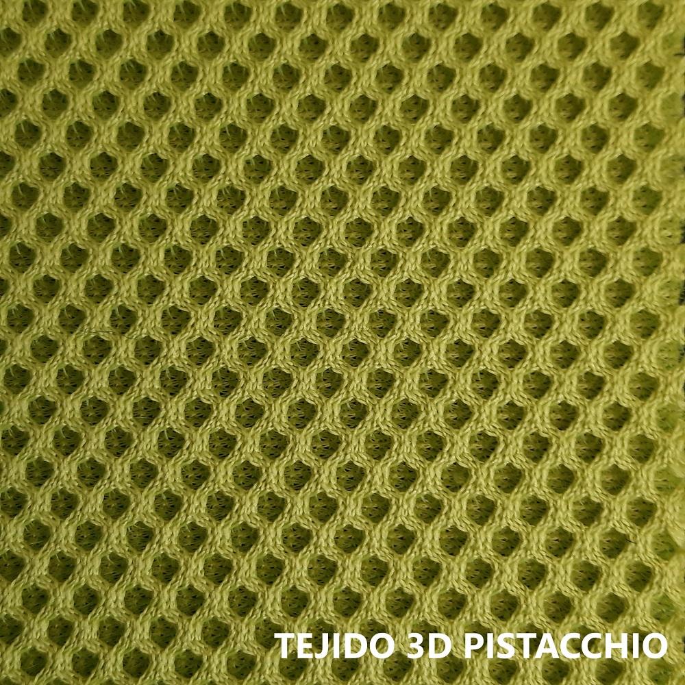 Tejido 3D verde pistacho