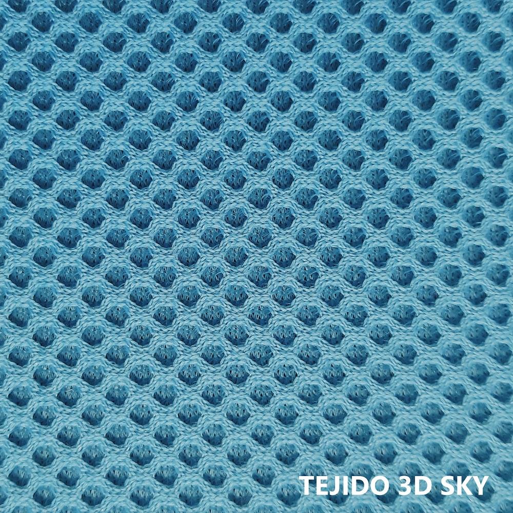 Tejido 3D azul celeste