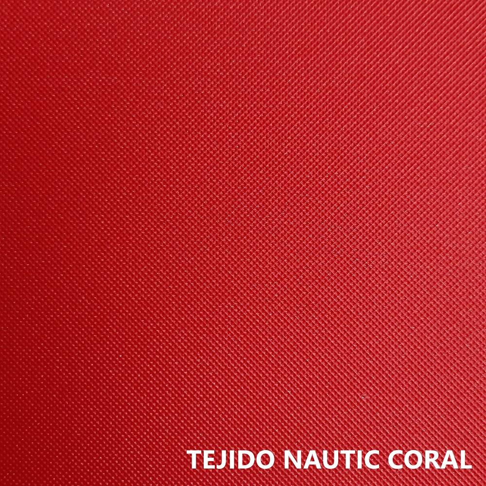 Tejido náutico rojo coral