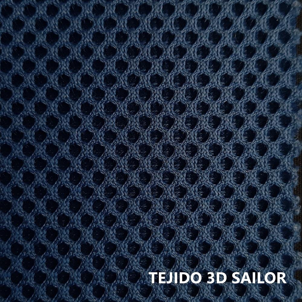 Tejido 3D azul marino