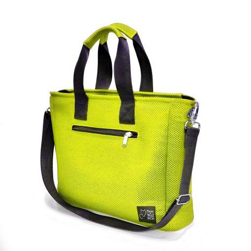Bolso BOX en 3D verde lima