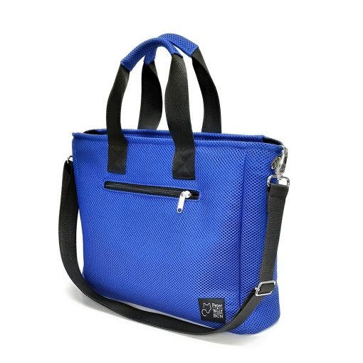 Bolso BOX en 3D azul royal