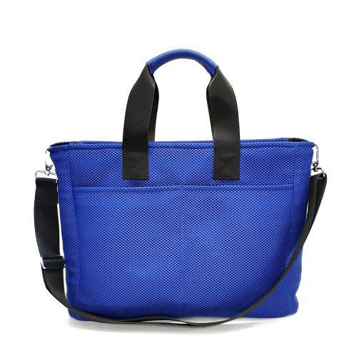 Bolso BOX en 3D azul royal trasera